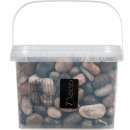 River pebbles 20-40mm 3.5 liters, brown assorted